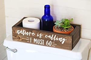 Toilet Paper Holder -Nature is Calling - Funny Bathroom Humor- Bathroom Decor