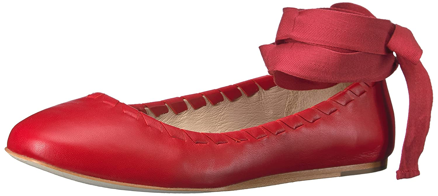 Via Spiga Women's Baylie Ballet Flat B01LA67KZ0 6 B(M) US|Fireball Red Leather