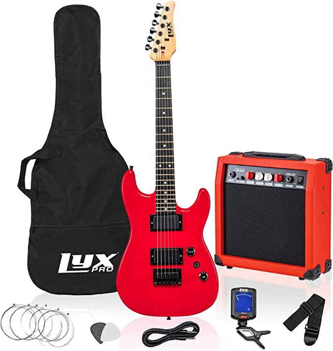 LyxPro 36 Inch Electric Guitar and Kit