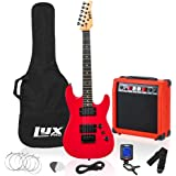 LyxPro 36 Inch Electric Guitar and Kit for Kids with 3/4 Size Beginner's Guitar, Amp, Six Strings, Two Picks, Shoulder Strap,