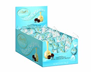 Lindt LINDOR Stracciatella White Chocolate Truffles ,60 Count Box
