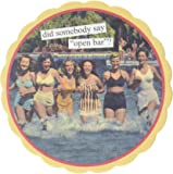 Anne Taintor 4-Inch Round Coasters, Open Bar