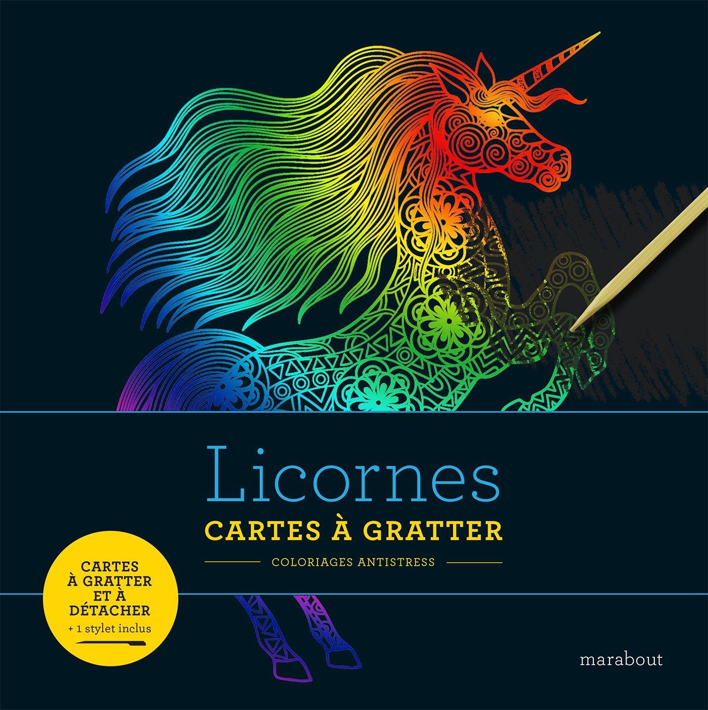 Coloriage Licorne Cultura.Amazon Fr Livre A Gratter Licorne Collectif Livres