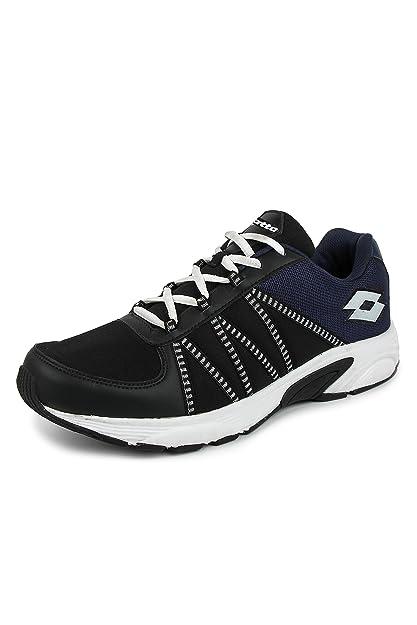 Lotto Men s Black and Navy Running Shoes - 6 UK India (40 EU ... deb518f91