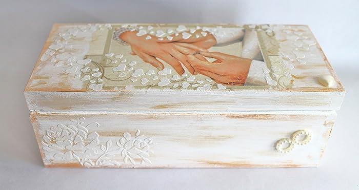 Wedding Gift Money Box Keepsake Decor Shabby Chic