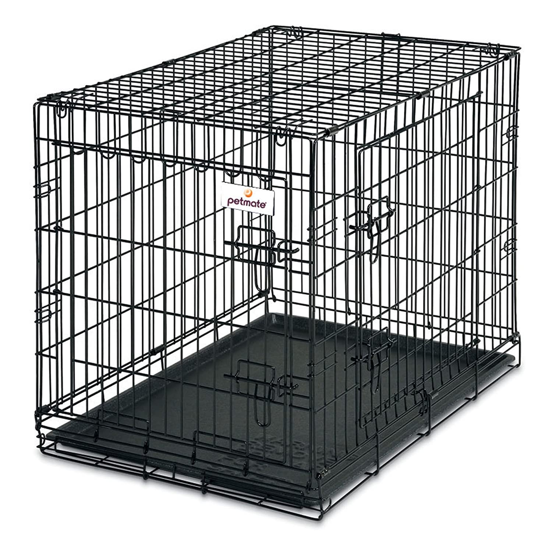 Amazon.com : Petmate 24-Inch 2-Door Training Retreats Wire Kennel ...