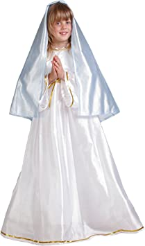 Disfraz de virgen María para niña - 9-11 años: Amazon.es: Juguetes ...