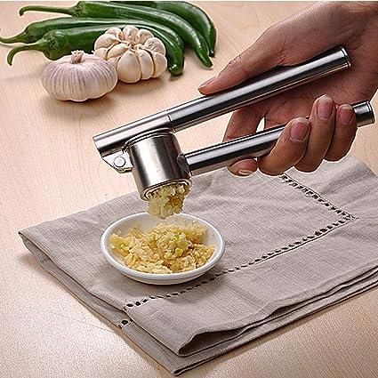 stainless steel garlic press