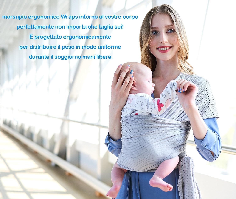 Écharpe de Portage Bébé Sling Été Tissu de maille respirant porte bébé de  haute qualité pour ... 9e9b21cac1e