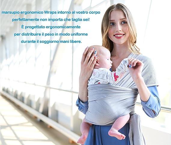 Écharpe de Portage Bébé Sling Été Tissu de maille respirant porte bébé de haute  qualité pour nouveau-nés et bébés jusqu à 20 kg  Amazon.fr  Bébés   ... 10de5c0b035
