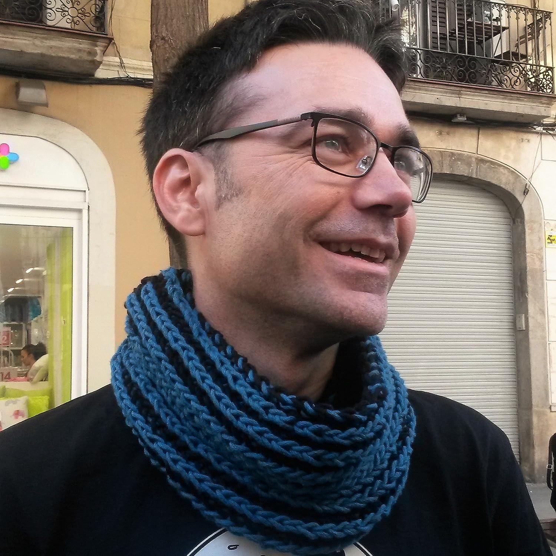 Bufanda cuello de algodón para hombre UNISEX tejida a mano, en ...