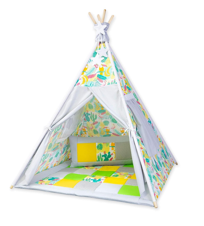 Spielzelt ohne Tipidecke ohne Kissen Amilian® Tipi Spielzelt Zelt für Kinder T60 (Spielzelt ohne Tipidecke ohne Kissen)