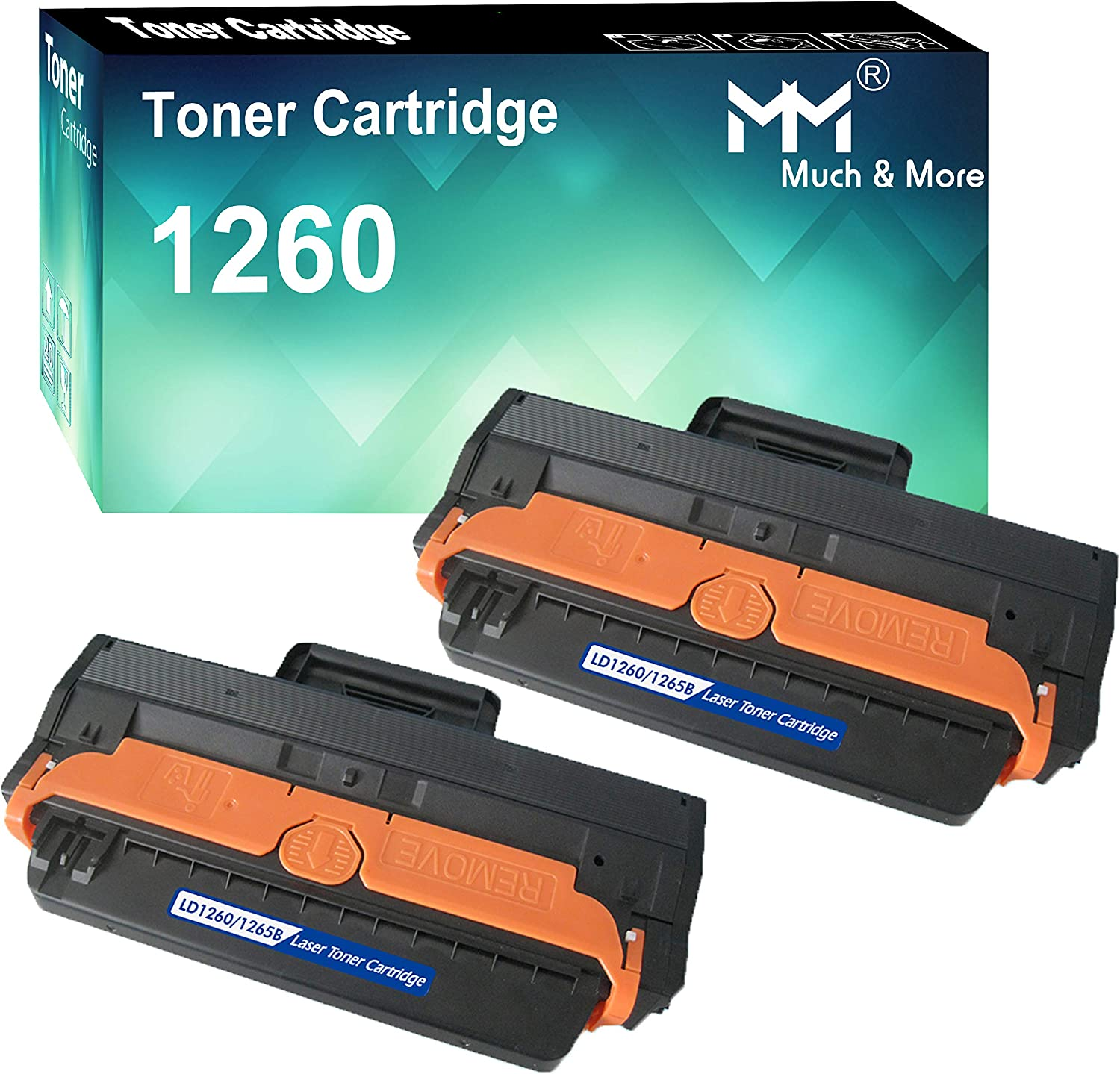 (2-Pack) Compatible Dell 1260 Dell 331-7328 RWXNT Toner Cartridge Used for Dell B1260dn B1260 B1265dn B1265dnf B1265dfw Series Printers, Sold by MuchMore