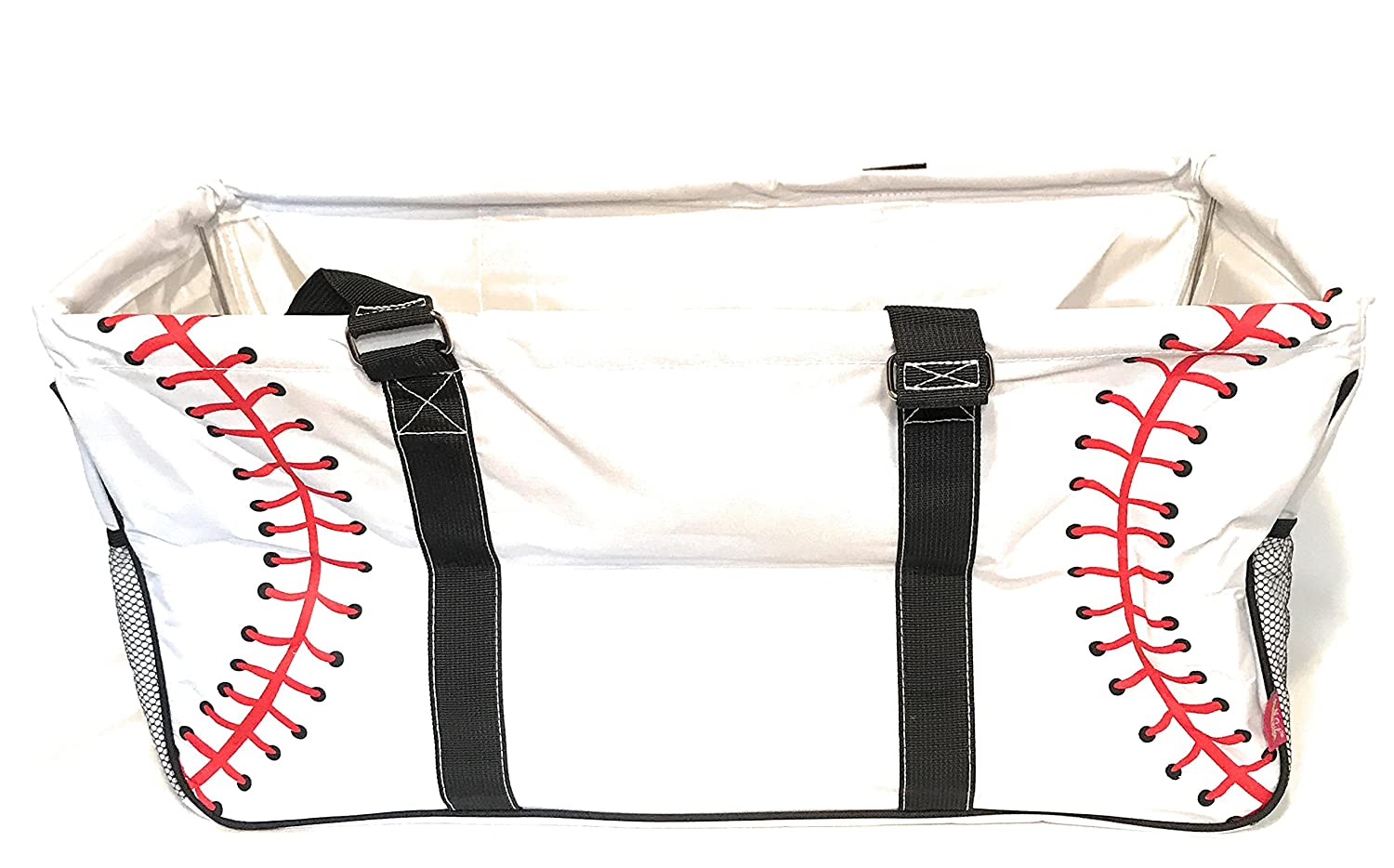 N. Gil All Purpose Open Top 23 Classic Extra Large Utility Tote Bag 2 Baseball , X-Large