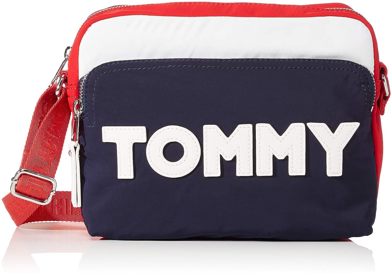 Tommy Hilfiger Tommy Nylon Crossover, Sacs bandoulière Sacs bandoulière femme Bleu (Tommy Navy) 4.5x23.5x18 cm (B x H x T) AW0AW04951
