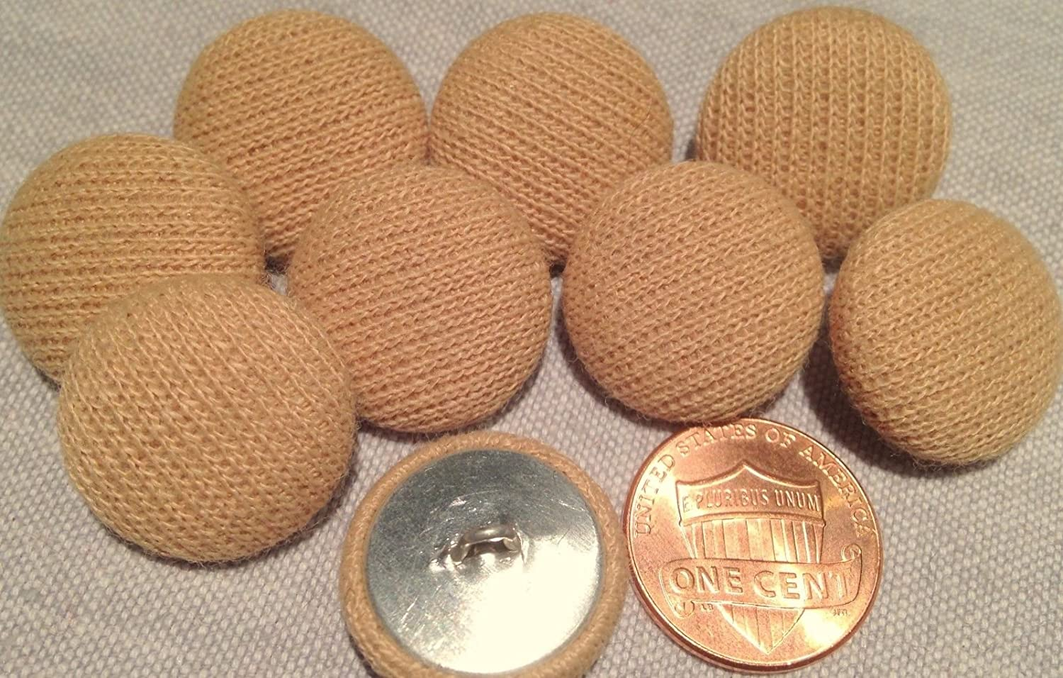Buttons Leather Upholstery 19mm Tan Hand made x 5