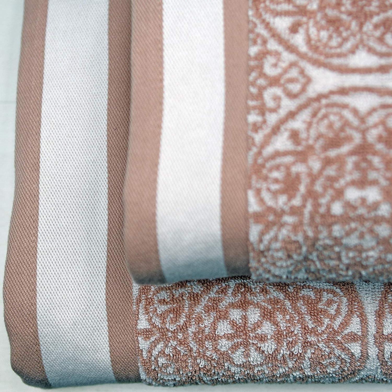 Pack Jacquard Ischia 3 Pi/èces 580 GR//m2-1 Serviette de Toilette Sensei Maison 80/% Coton et 20/% Modal/® 1 Serviette Invit/é Couleur Bleu Azur 1 Drap de Douche Tr/ès Doux et Absorbant