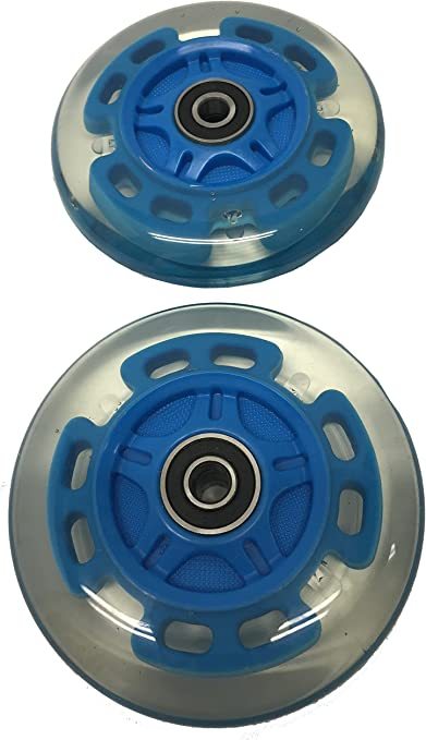 Upgrade Led Light Up Wheels for Razor Kick Scooter,2-Pack 98mm Flashing Push Scooter Replacement Wheel Set