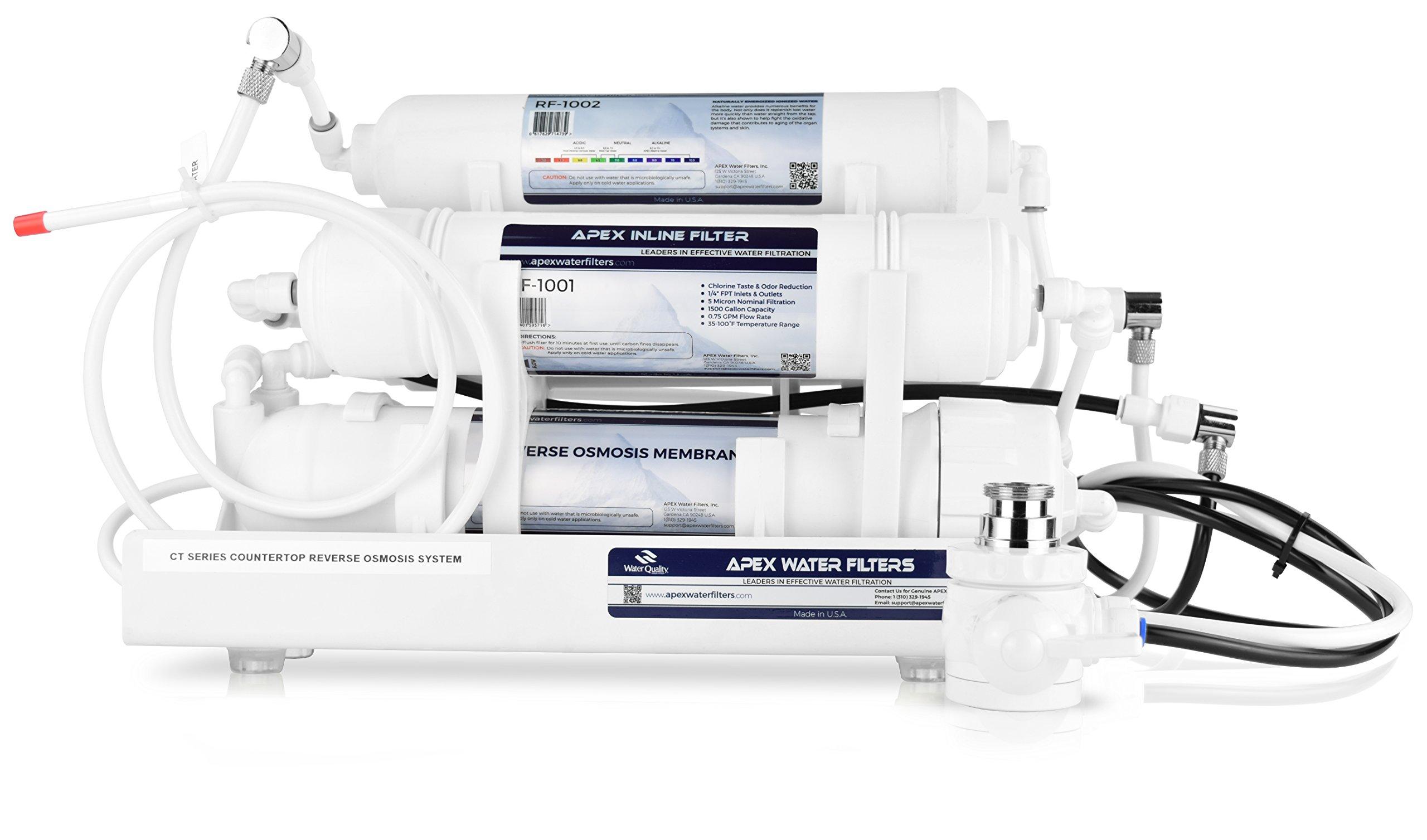 APEX Countertop Alkaline Reverse Osmosis Water Filter (CT-1020)