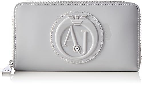 Armani Jeans - Portafoglio, Carteras Mujer, Grau (Grigio Chiaro), 10x2x19 cm