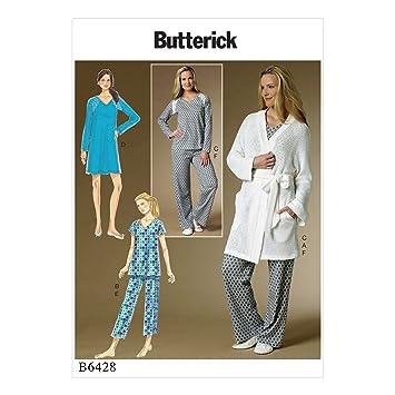 Butterick Patterns Butterick 6428 ZZ, Schnittmuster Bademantel, Top ...
