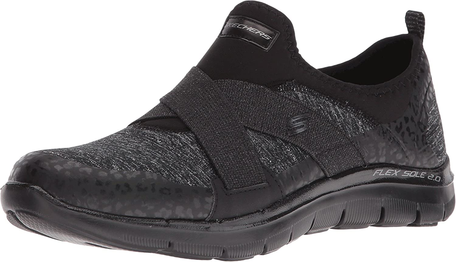 Skechers Sport Women's Flex Appeal 2.0 New Image Fashion Sneaker B01EOUBAVY 7.5 B(M) US|Black