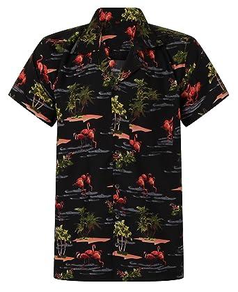 1bfe780c3 Hawaiian Shirt Flamingos Shirt Aloha Hawaii Holiday Parrot Stag BBQ S M L  XL XXL: Amazon.co.uk: Clothing