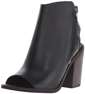 Steve Madden Women's Terraa Boot, Black Leather, 8 M US