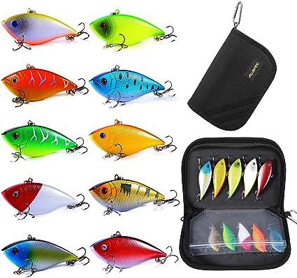 10Pcs Mini Fishing Lures Lots Of Minnow Fish Bass Tackle Hooks Baits Crankbait