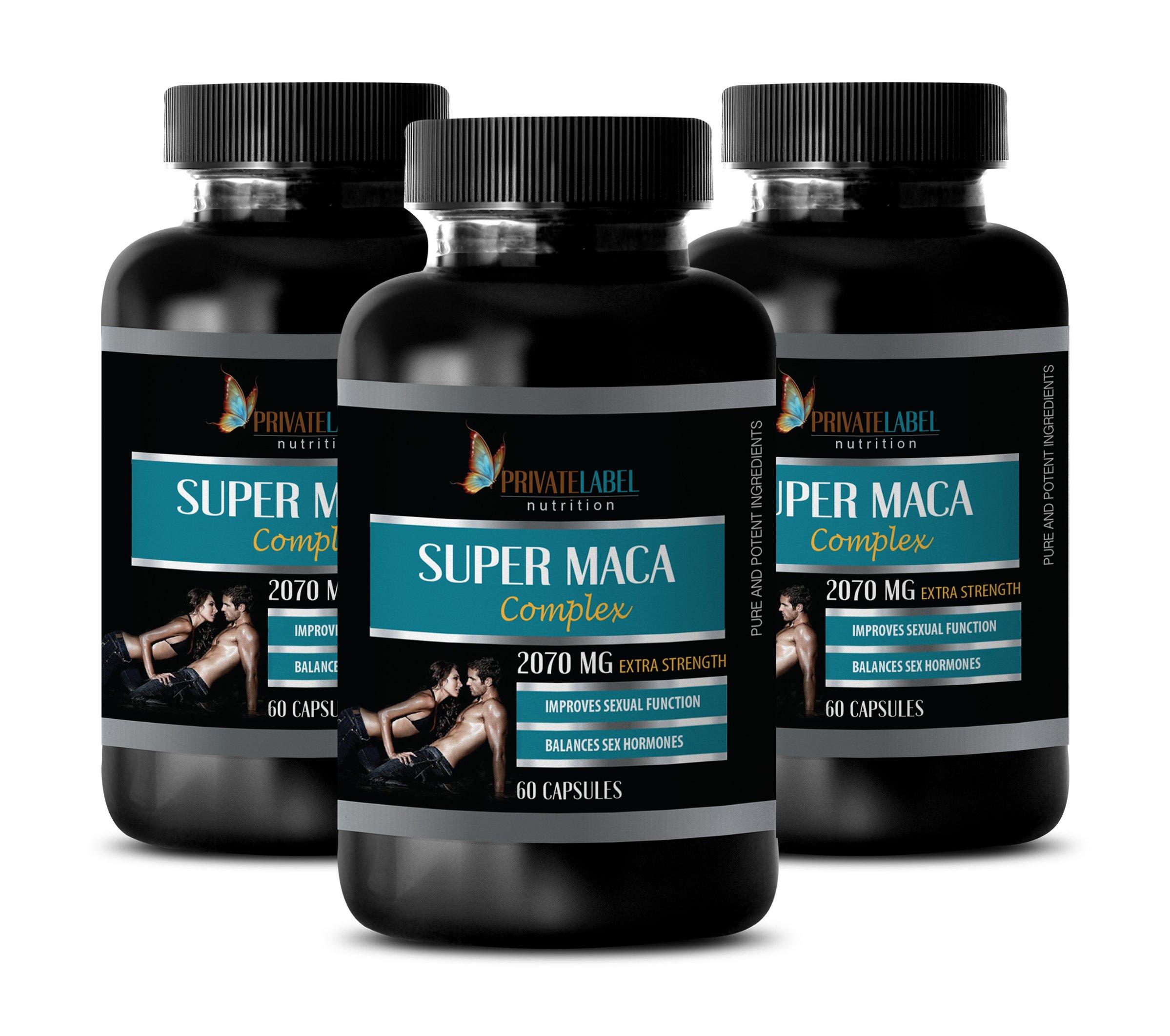 Men Sex Enhancer Supplement - Super MACA Complex - Improves Sexual Function - tribulus terrestris with maca - 3 Bottles 180 Capsules