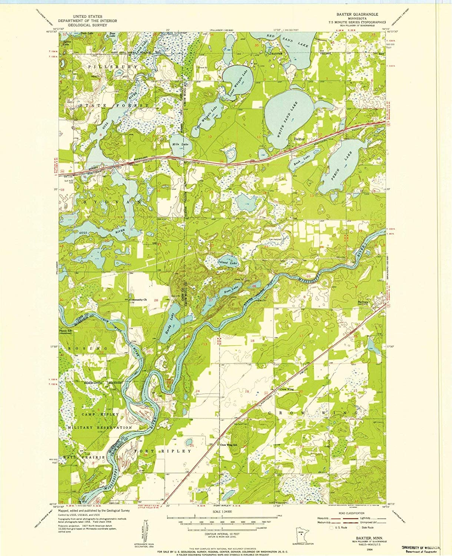 Amazon Com Minnesota Maps 1954 Baxter Mn Usgs Historical