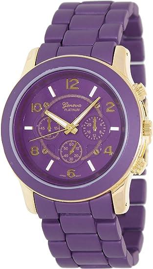 Geneva Platinum 9158.Gold.Purple Mujeres Relojes