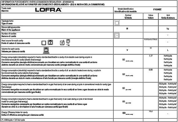 Lofra Lofra fys 99 EE Exclusivo empotrable del Horno 90 cm Autark ...