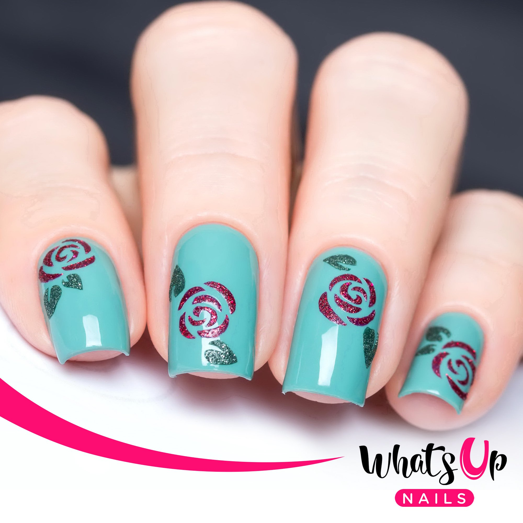 Amazon.com : Whats Up Nails - Orchids Vinyl Stencils for Nail Art ...