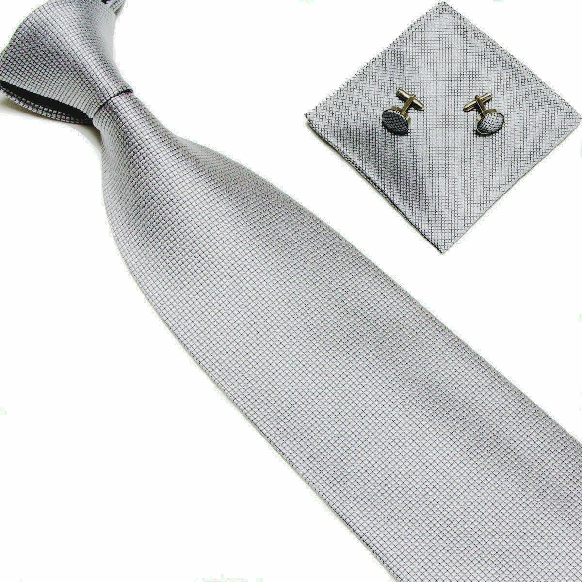 L/&L/® Kids Children Woven Silk Tie Set Cufflinks and Handkerchief Set Hanky Wedding