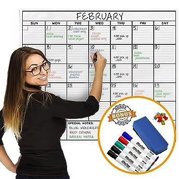 OfficeThink laminado Jumbo organizador calendario, enorme 61 CM ...