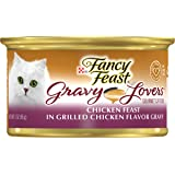 Fancy Feast Purina Cat Food Grilled Chicken Flavour, Purple/Brown, 85 gm, 11057204