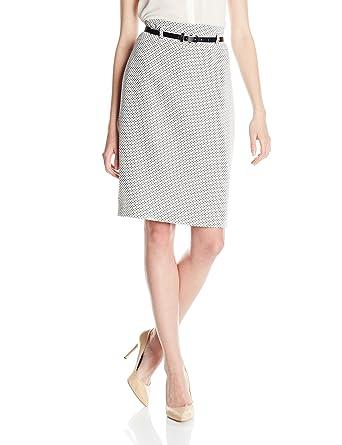 0953c2763e Nine West Women's Tweed Slim Skirt at Amazon Women's Clothing store: