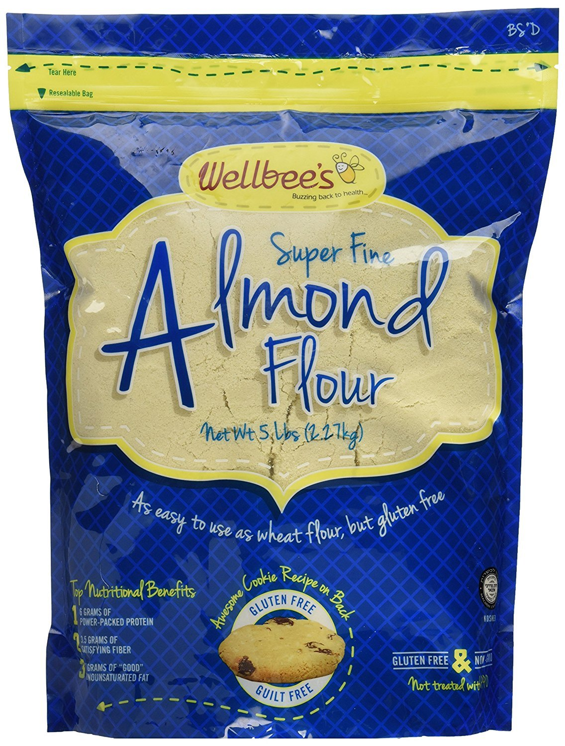Wellbee's Super Fine Blanched Almond Flour / Powder 5 Pound by Wellbee's