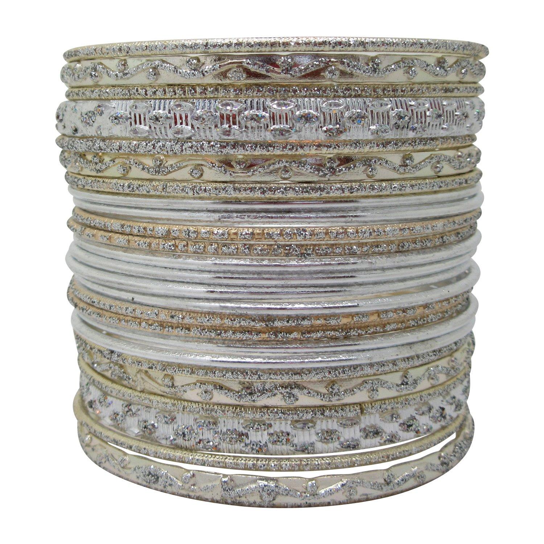 LaRaso & Co Set Silvertone Bangle Bracelets Women