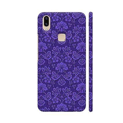 Colorpur Vivo V9 Cover Blue Flower Wallpaper Style Amazon