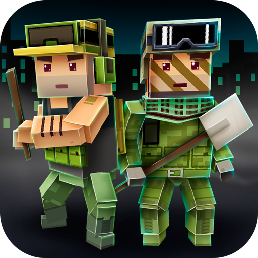 Abandoned Pixel City Exploration: Open World Survival Game | Blocky Zombie Apocalypse Military Survival -