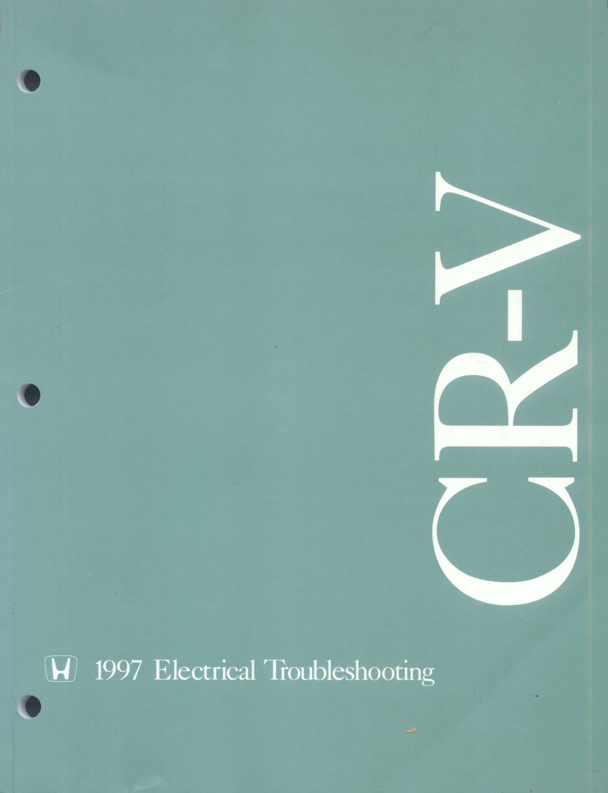 1997 Honda CR-V Electrical Troubleshooting Manual Original: AHMC:  Amazon.com: Books