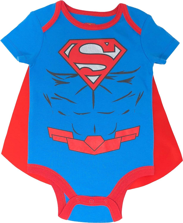 B/éb/é Gar/çon DC Comics Justice League Body Naissance Superman et Batman avec Manteau