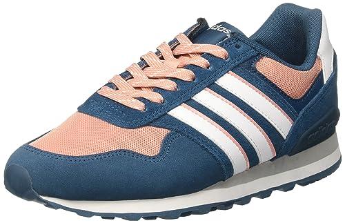 adidas Damen 10k Sneaker, Verde rosa, 6 EU