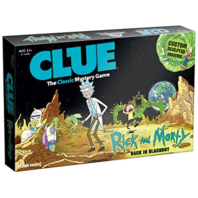 USAOPOLY CLUE: Rick and Morty | Featuring Characters from The Adult Swim TV Show Rick & Morty | Collectible Clue Board Game | Perfect for Rick & Morty Fans: Toys & Games