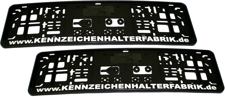 Satz (2 Stück) Kennzeichenhalter - KURZ (46 cm) - MIT INDIVIDUELLEM ...