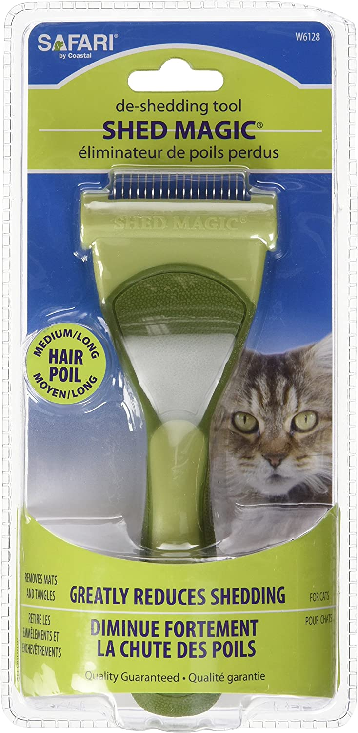 Safari Pet Products CSFW6128 Shed Magic Deshedder for Cats