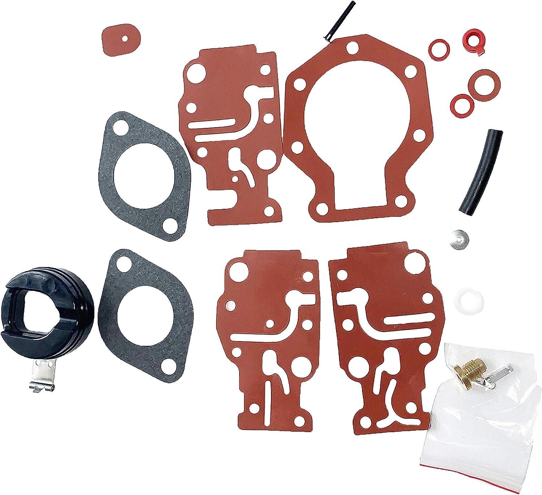 Aquiver Auto Parts New Carburetor Carb Repair Rebuild Kit for Johnson/Evinrude 439073 0439073