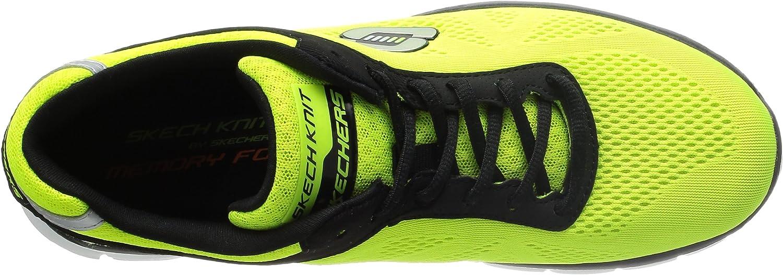 Skechers51187 - Skechers 51187 Hombre , Amarillo (Amarillo Neón/Negro), 42.5 EU: Amazon.es: Zapatos y complementos